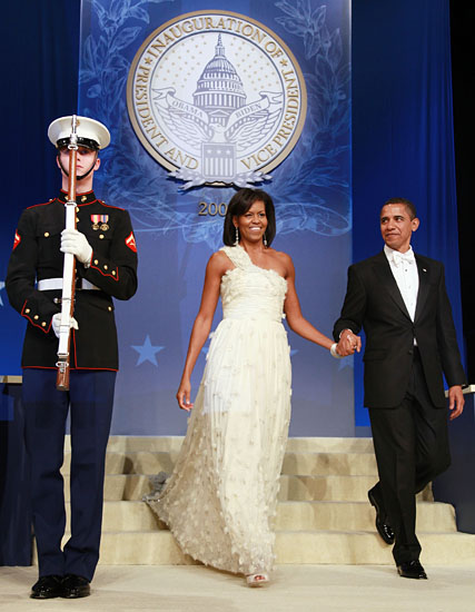 Michelle Obama in Jason Wu at Home States Inauguration Ball